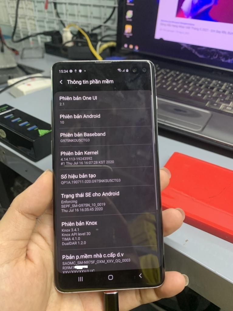 Độ 2 sim Samsung Galaxy S10 Plus | SM-G975N U5 dual sim
